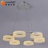 Spring lighting ring led pendant lamp chandelier metal ring OXD9962-6SDW