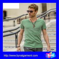 Wholesale t shirts factory china mens sexy v neck t shirt 100%polyester plain t shirt