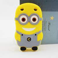 3D minion Silicone case for blackberry curve 9320