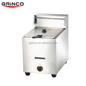 10L gas personal temperatura controlada profundo embudo torta freidora