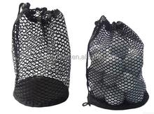 2015 Wholesale golf ball mesh bag with drawstring