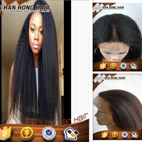 High quality hot selling human hair yaki full lace wig silk top ,150 density
