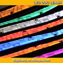 popular led pet collar, bear led flash dog leash,led pet strap light for walking the dog at night cat disco DC-2507A