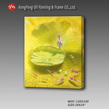 newest design modern derocation lotus flower oil painting