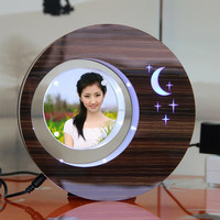 LED suspending in the air magnetic levitation photo frame premium gift
