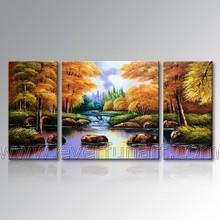 canvas art oil painting autumn landscape for home decoration