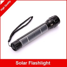 Emergency LED Solar Power Rechargeable Torch Flashlight