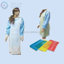 Factory direct supply disposable pe apron for medical and surgical use(white)