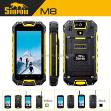 SNOPOW IP68 waterproof walkie talkie 5km quad core android 4.4 NFC wireless charger dual sim without camera mobiles