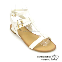 simple lady flat new model girls sex shoes sandal for the young