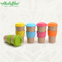 Eco friendly mug with food grade silicone lid