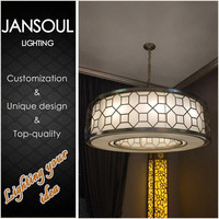 zhongshan large chandelier metal ring pendant lamp