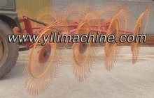 3-point pitch mounted hay rake for 4wheel tractor.