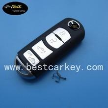 Low price 4 button smart key cover for mazda car key mazda key case