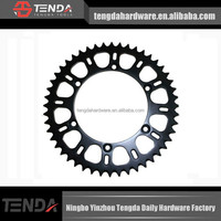 I want motorcycle chain and sprocket sets,especially drawing sprocket and bicycle sprocket sizes