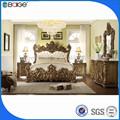 Madera bd-8008 doble modelos de cama de madera nuevo diseño de la cama doble
