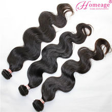 Homeage high quality body wave hot sale 24 inch remy brazilian weave