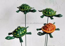 Hot Sale in USA 4 inch Cute Sea Tortoise Design Garden Decoration Plastic Plugin