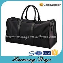Durable black polyester weekend men outdoor duffel bag