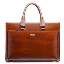 2014 Men's Nice Custom Genuine Leather Tote Bag