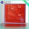 190*190*80mm red glass block with high quality