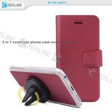 New arrival 3 in 1 for iphone leather phone case, smart mobilephone cover for iphone phone case