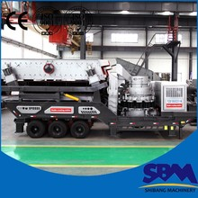 Crusher series mobile vibrating feeder and cone crusher plant from SBM