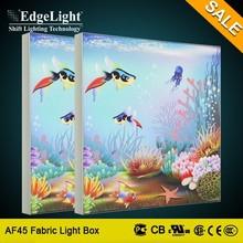 Edgelight AF45 frameless led backlit picture frame for advertisment textile light box