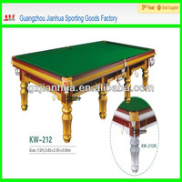 golden color 100% solid wood,high quality and elegant snooker table Silver color