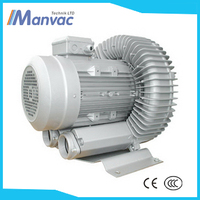 Manvac LD 0085 H43 R14 single stage there phase 380V 0.7kw 220mbar vacuum assisted eliminator side channel blower