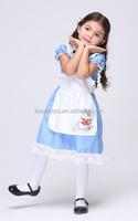 GIRLS KIDS Children blue alice in wonderland FANCY DRESS COSTUME OUTFIT