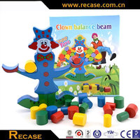 Funny DIY Wooden Clown Balance Building Blocks Toy Education Balance Blocks for Kids