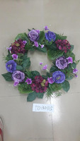 Mini Artificial Wholesale flower wreaths in 2015