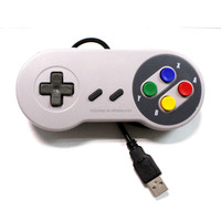 stock available snes usb game controller compatible with win and mac