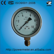"""4""""100mm wika type stainless steel case bottom connection bourdon tube pressure gauge"""