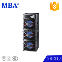 wooden cabinet and 10 inch *3 woofer with led light speaker