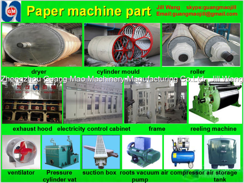 Zhengzhou Guangmao2015 new products 1880mm Toilet/tissue paper making machine,paper machinery,paper recycling machine price