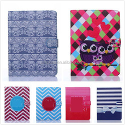 Printing Cartoon Owl Wallet Leather Case cover with stand For Apple ipad mini 1 2 3