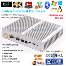 New Dual core i7 mini pc i7-4500U 3.0GHz HD Graphics 4400 4GB RAM 8GB SSD,Windows7 / Windows8 2*HD MI, 2 Gigabit Lan, 2*COM