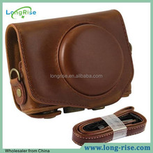 Best Price Camera Bag, for Canon Camera Bag, Coffee Leather Camera Bag for Canon G7X