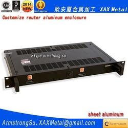 XAX566Alu OEM ODM customized laser cut bend weld plate aluminum tool box Router box