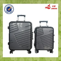 Grey Color Hot Sale ABS+PC High Quality Real Push Aluminum Trolley 360 Wheels Luggage Set