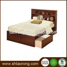 hotel bedroom furniture set double size bed with drawers TRBD-046
