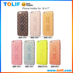 Factory direct sales TPU phone holder for SAM,HUAWEI,HTC Transparent crystal phone case back cover