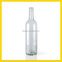 750ML clear wine glass bottle