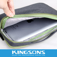 High Quality Soft Frosted Fabric Laptop Bag for Ipad 10.1 Inch Tablet Case Bag