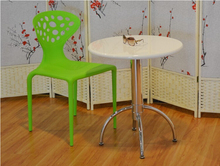 Outdoor garden leisure convenient high quality plastic dining table and chair