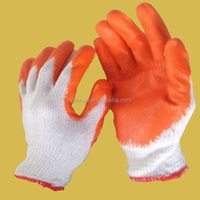 2015 the high quality of cotton Lined Latex Gloves/Cheap Latex Gloves/White Cotton Hand Gloves