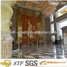indoxidable acero hotel decoracioens, hotel recepción decoraciones, hotel lobby decoraciones