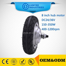 24V 250W mini motor for electric wheel hub motor